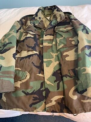 $59 • Buy Military M-65 Insulated Winter Coat With Liner Size M Regular