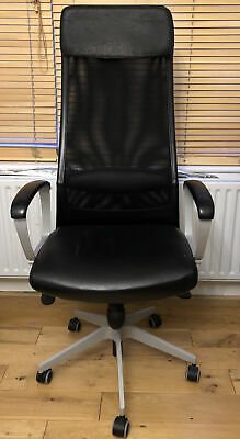 IKEA Markus Black Swivel Office Chair Issue With Maintaining Height Needs Fixing • 95£