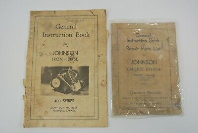 £10.63 • Buy Johnson Iron & Chore Horse General Instruction Books Lot Of 2 Vintage Booklets
