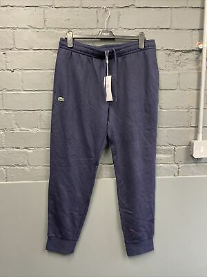 **New** Mens Lacoste Navy Blue Fleece Joggers Size 6 Large RRP £75 • 23.21£