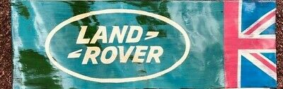 Waving Flag  Style,  Land Rover ,union Jack, Wall Plaque / Sign • 69.99£