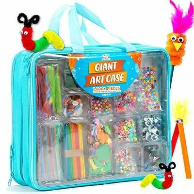 Giant Box Of Craft - Arts And Crafts Supplies Set - Contains 1600 Pieces • 44.99£
