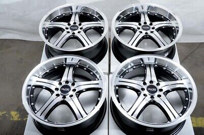 $649 • Buy 18 4x100 4x114.3 Black Wheels Fits Accord Civic Lancer Tiburon Miata 4 Lug Rims