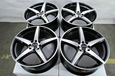 $549 • Buy 17 4x100 4x114.3 Black Rims Fits Hyundai Elantra Sonata Tiburon Mr2 4 Lug Wheels