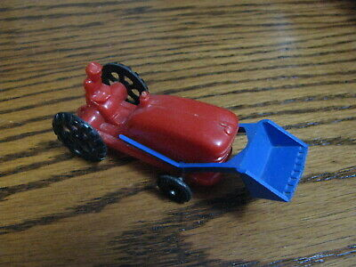 AU12.22 • Buy Wannatoys Tractor W/ Front End Loader   4  Long    Red & Blue        Lot# HEM