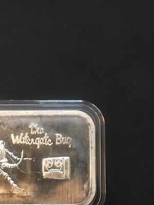 The Watergate Bug COLONIAL MINT 1 Oz .999 Fine Silver Art Bar Ingot • 27.18£