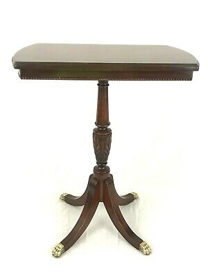$255 • Buy VTG Imperial Grand Rapids Mahogany Rectangle Side Table Brass Claw Feet 22.5''