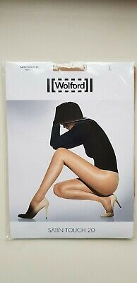 WOLFORD SATIN TOUCH 20 Den TIGHTS Size L Large In COSMETIC Beige Nude Natural • 17£