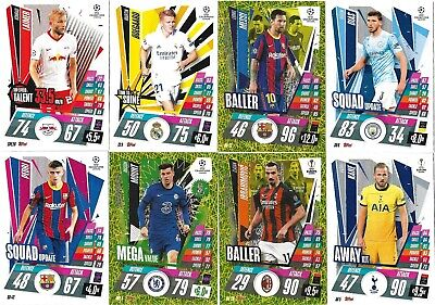 £0.99 • Buy Match Attax Extra 2020/21 Choose Your Squad Update/captain/ballers/away Kits