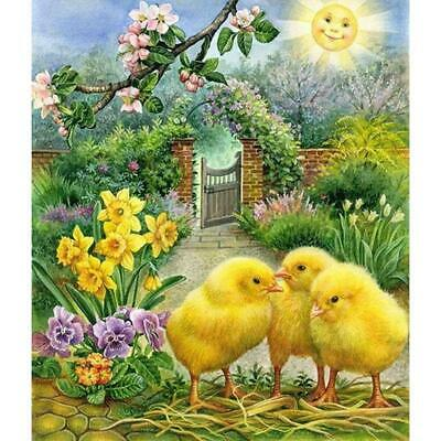 AU9.17 • Buy 5D DIY Full Drill Diamond Painting Vintage Chick Cross Stitch Embroidery R1BO
