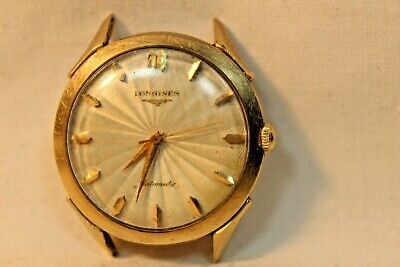 $ CDN125.61 • Buy Vintage Wavy Face Longines Automatic 10kt Gold Filled Wristwatch Watch