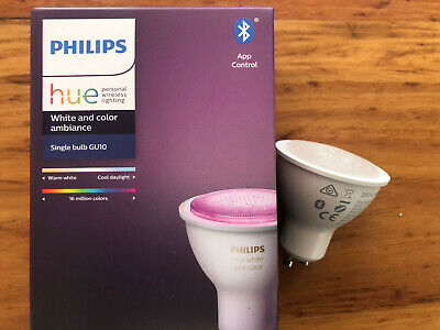 AU7.50 • Buy 2 X Philips Hue White & Colour Ambience GU10 Downlights - Never Used