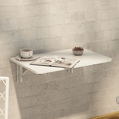 £30.95 • Buy Folding Wall Table Floating Drop Down Study Writing Dining Desk White MDF Tables