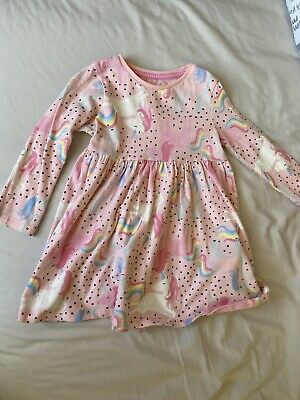 Pink Unicorn And Rainbow Dress 12-18 Months Baby/ Toddler  • 1.90£