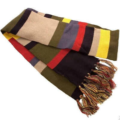Official BBC Doctor Who Fourth 4th 12' DELUXE Tom Baker Striped Cosplay Scarf • 39.95£