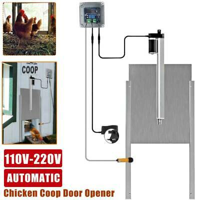 £85 • Buy Automatic Timer Chicken Coop Door Opener With Remote Controls And IR Sensor 66W