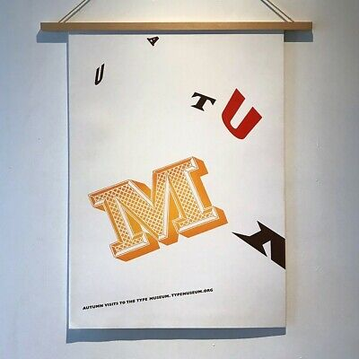 £45 • Buy AUTUMN Visits To The Type Museum / POSTER Typography Graphic Design