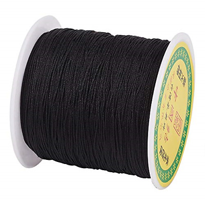 £10.70 • Buy Cheriswelry 0.5mm Nylon Beading String Silky Black Chinese Knotting Cord Braided