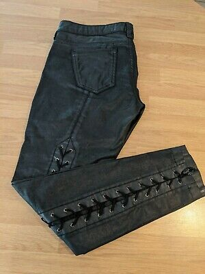 GUESS Premium Leather Jeans With Lace Up Detail At The Back Size 30 / UK Size 12 • 20£