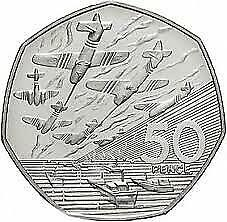 1994 50P COIN RARE D DAY LANDING OLD LARGE STYLE FIFTY PENCE BATTLE OF BRITAIN B • 5.99£
