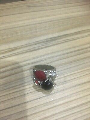 Ladies Silver Plated Multi Stoned Ring • 1.50£