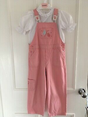 Marks And Spencer Girl 3-4 Dungarees. Pink And Beautiful! Excellent Condition. • 8£