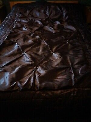 Jeff Banks Port Of Call Quilted Double Bedspread, Throw, Deep Purple • 20£