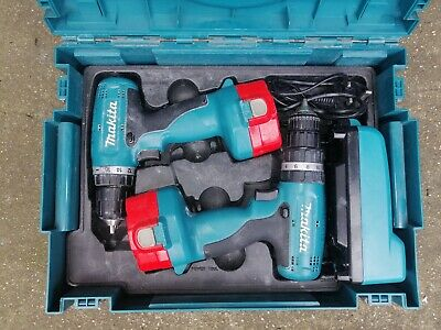 Makita 8280D & 6280D 14.4V Cordless Drill Set With Charger And Case • 50£