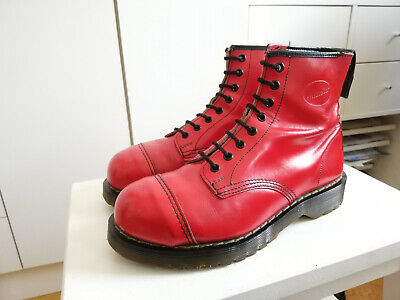 £42.77 • Buy Vintage 90s Dr Martens Hawkins Boots UK5 38 Stiefel Made In England Bright Red
