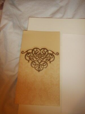 90 Lace Invitation Card Package With Wallet And Matching Envelopes Great Value • 19£