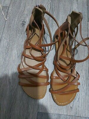 Ckarks Tan Gladiator Sandals Size 7 • 5£