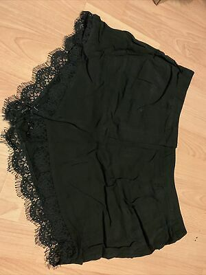 Papaya Size 16 Black Lace Bottom Ladies Shorts • 0.99£
