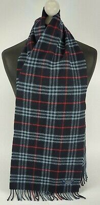 Burberry Scarf 100% Lambswool For Men And Women Made In England Navy 58 • 2.20£