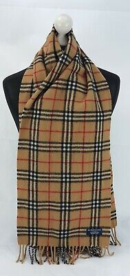Burberry Scarf 100% Lambswool For Men And Women Made In England Beige  • 4.20£