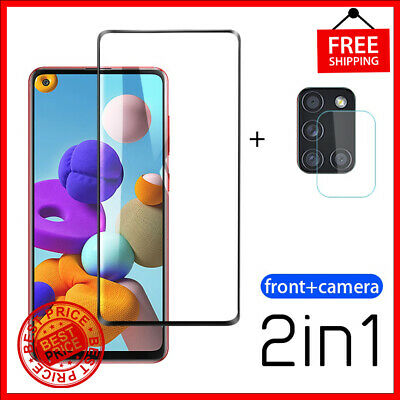 £3.63 • Buy 2-in-1 Tempered Glass For Samsung Galaxy S21 A71 Camera Lens Screen Protectors