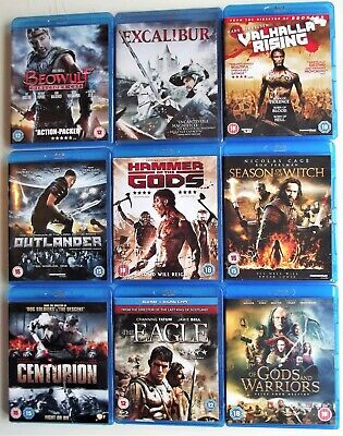 AU37.87 • Buy Mixed Action Blu-Ray Bundle Excalibur/Valhalla Rising/Beowulf/Outlander/TheEagle
