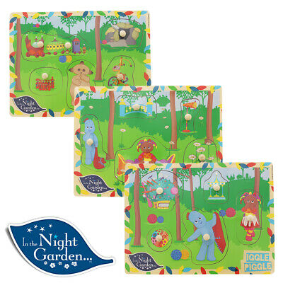 In The Night Garden Wooden Puzzle Assortment • 9.99£