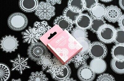 £2.99 • Buy 50 LACE STICKERS Snowflake Scrapbooking Journal Diary Card Craft Decoration