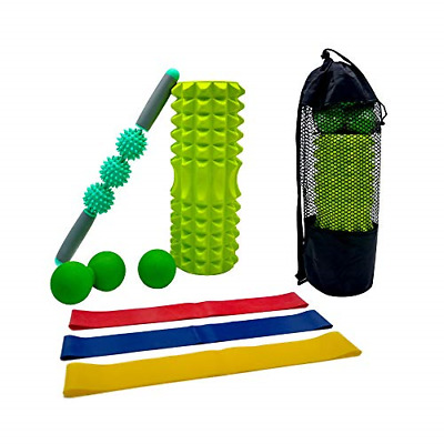 AU54.61 • Buy 8 In 1 Foam Roller Set For Deep Tissue Muscle Massage Include Yoga Pole, Muscle