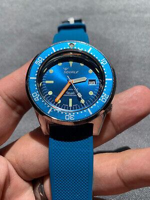 $ CDN928.59 • Buy Squale Professional 50 Atmos 1521 Blue 500m Dive Watch +2 Straps