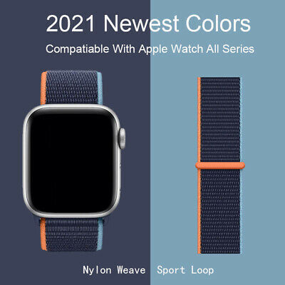 $5.49 • Buy Nylon Sport Loop IWatch Band For Apple Watch Series 6 5 4 3 2 1 SE 38/42/40/44mm