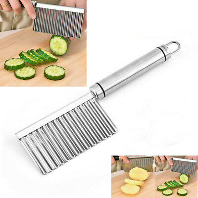 £2.79 • Buy UK Stainless Steel Potato Cutter Chip Salad Vegetable Crinkle Wavy Cutter Tools