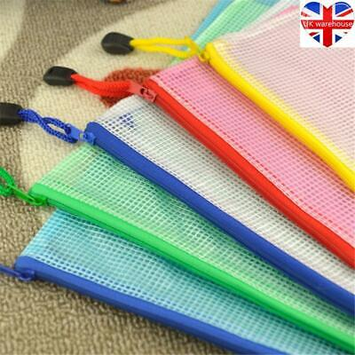 £3.74 • Buy A3/A4/A5 Plastic Zip File Bags Storage Document Folder Protective Wallet Pocket