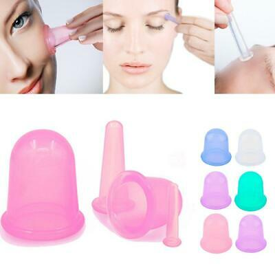 Silicone Anti Cellulite Massage Vacuum Therapy Body Facial Cups Cupping KS • 5.22£