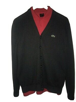 Mens Lacoste Cardigan Size M , Used But In Great Condition • 19£