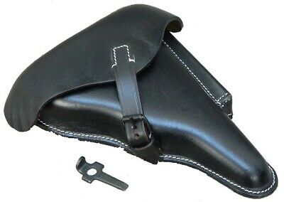 WWII GERMAN LUGER P08 Hardshell BLACK LEATHER HOLSTER W. Takedown Tool UK • 26.99£