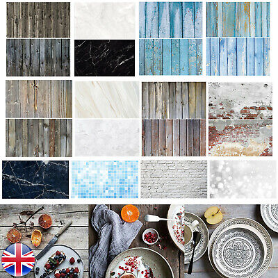 Dual Double Sided Backdrop Paper Instagram Product Food Background Drop Photo • 7.59£