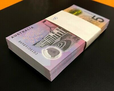 AU11.90 • Buy 1 X NEW 2019 Aus $5 Note ** GENERAL PREFIX ** UNCIRCULATED ** VERY LOW MINTAGE!!