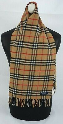 Burberry Scarf 100% Lambswool Short Made In England Beige 41 • 0.99£