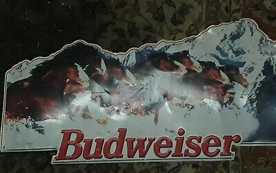 $ CDN107.58 • Buy Collectible Vintage Budweiser Sign Clydesdale Horses 1995 Decor 35 X17 Est.